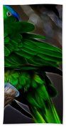 The Parrot Fractal Bath Towel