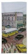 The Portsmouth Ohio Post Office On The Esplanade 1948 Bath Towel