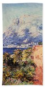 The Red Road Near Menton Hand Towel