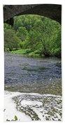 The River Dove Beneath Coldwall Bridge Bath Towel