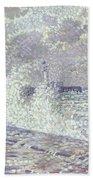 The Sea During Equinox Boulogne-sur-mer Bath Towel