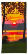 The Smiling Face Sunset Bath Towel