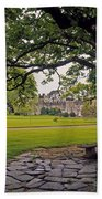 The Sundial Terrace, Glin Castle, Co Bath Towel