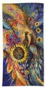 The Sunflower ... Visit Www.elenakotliarker.com To Purchase The Original Hand Towel