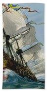 The Swedish Warship Vasa Bath Towel
