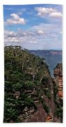 The Three Sisters - The Blue Mountains Bath Towel