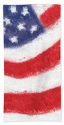 The United States Flag Bath Towel