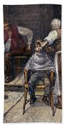 The Village Barber, 1883 Bath Towel