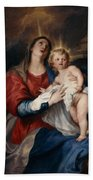 The Virgin And Child Hand Towel