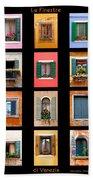 The Windows Of Venice Bath Towel
