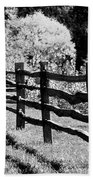 The Wooden Fence Bath Towel