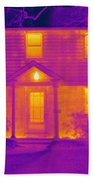 Thermogram Of A House In Winter Bath Towel