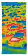 Thermogram Of A Parking Lot Bath Towel