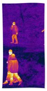 Thermogram Of People Walking Bath Towel