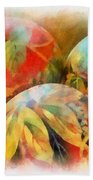 Three Balls - Watercolor Bath Towel