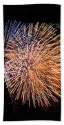 Three Bursts Of Fireworks Four July Two K Ten Bath Towel
