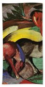 Three Horses Bath Towel