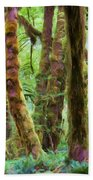 Through Moss Covered Trees Hand Towel