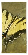 Tiger Swallowtail Butterfly - Papilio Glaucas Bath Towel