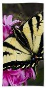 Tiger Swallowtail On Pink Hyacinth Bath Towel
