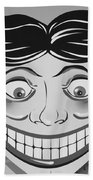 Tillie The Clown Of Coney Island In Black And White Bath Towel