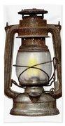 Time Worn Kerosene Lamp Bath Towel