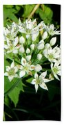 Tiny White Flowers Bath Towel