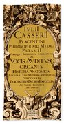 Title Page, Giulio Casserios Anatomy Hand Towel