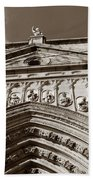 Toledo Cathedral Entrance In Sepia Bath Towel