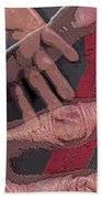 Touch And Red Zipper Bath Towel