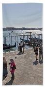 Tourists In Venice Bath Towel