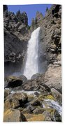 Tower Fall Of Yellowstone Bath Towel