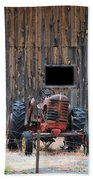 Tractor And The Barn Bath Towel