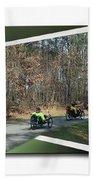 Trail Of Trikes Bath Towel
