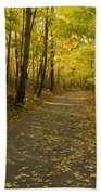 Trail Scene Autumn Abstract 1 Bath Towel