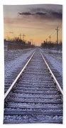 Train Tracks And Color 2 Bath Towel