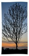Tree At Sunset Bath Towel