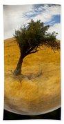 Tree In A Field Through A Glass Eye Bath Towel