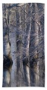 Tree Reflection Abstract Bath Towel
