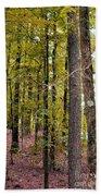 Trees Of Golden Hues Bath Towel