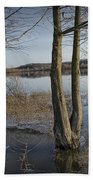 Trees On Flooded Riverbank No.1001 Bath Towel
