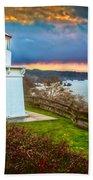 Trinidad Memorial Lighthouse Morning Bath Towel