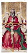Trinity And Christ Bath Towel