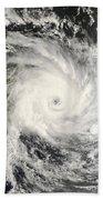 Tropical Cyclone Ivan Over Madagascar Bath Towel
