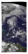 Tropical Cyclones Katia, Lee, Maria Bath Towel