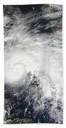Tropical Storm Ida In The Caribbean Sea Bath Towel