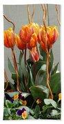 Tulip Arrangement Bath Towel