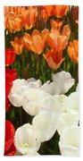 Tulip Flowers Festival Art Prints Floral Baslee Bath Towel