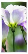 Tulip Gentian Flowers Bath Towel