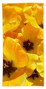 Tulips Art Prints Yellow Tulip Flowers Floral Bath Towel